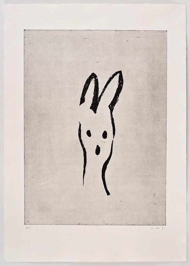 Bunny (Madonna), Etching, Tali Benbassat