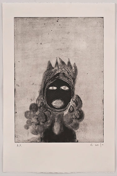 Black Moon Passing Me, Etching, Tali Benbassat