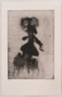 Dancing with Miro, Etching, Tali Benbassat