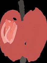 Pomme représentant le soutien aux familles vulnérables à la Fondation W.