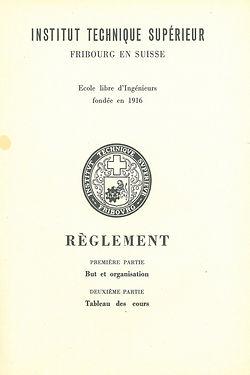 La charte de l'ITS date de 1953