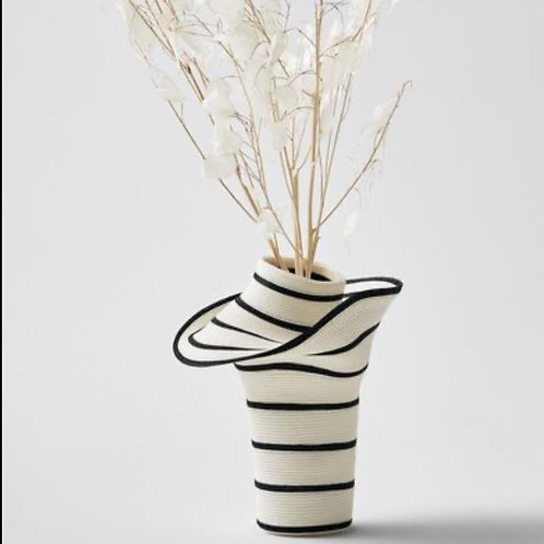 """Vase """"not too much"""" Stripe Small"""