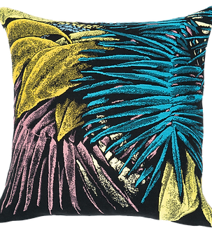 Coussin tapissier  Total tropical  J.Colombier* by J.Pansu