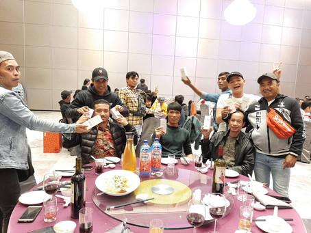 外籍勞工參與尾牙宴