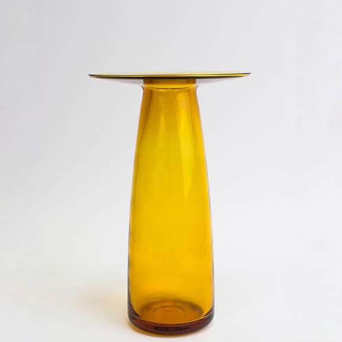 Vase en verre soufflé Ambre