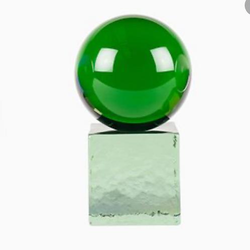 Sculpture verre Swedish Vert