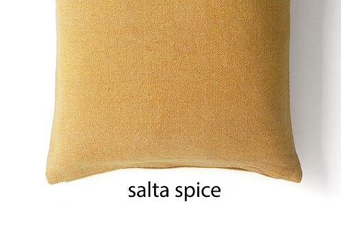 Coussin Salta en coton et lin recyclé Spice