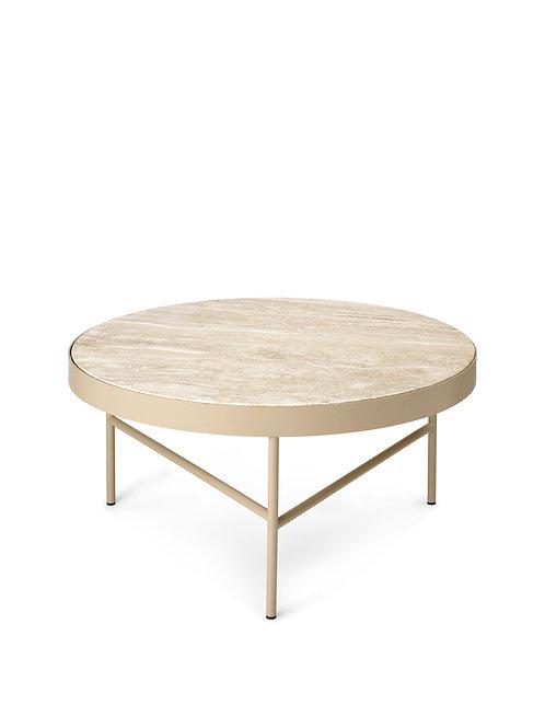 Table basse en travertin et métal by Fermliving