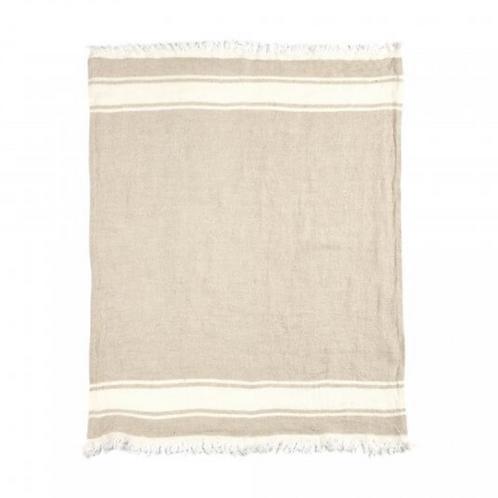 Plaid lin Flax stripe  Libeco