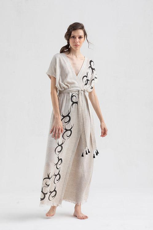 Robe longue Wrap  IKIKIZ