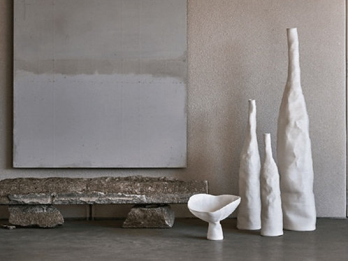 """Vase haut """"Fleur Lily """" Large White"""