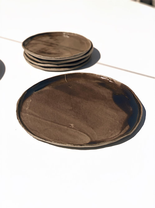 Assiettes  en grès émaillée  CGlab (lot de 2)