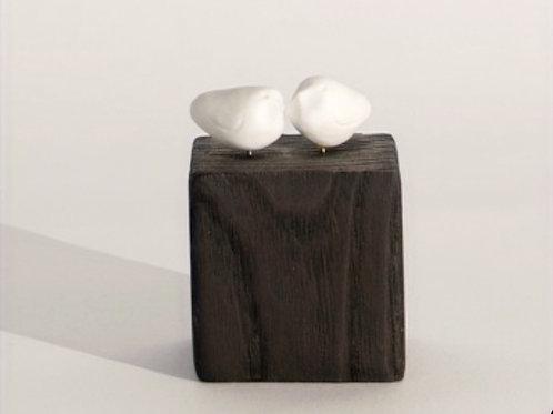 """Sculpture porcelaine """"Nous deux"""""""