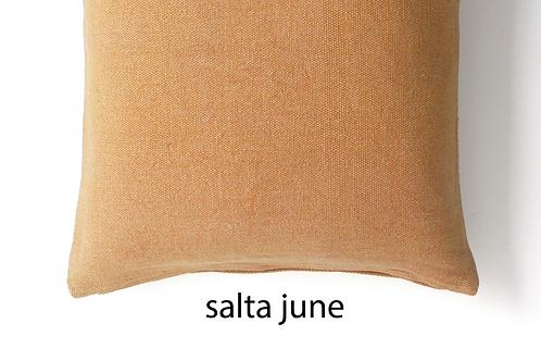 Coussin Salta en coton et lin recyclé June