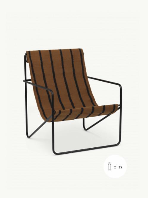 Fauteuil outdoor Desert chair black/Stripe
