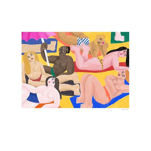 """Affiche """"La plage"""" Cépé"""