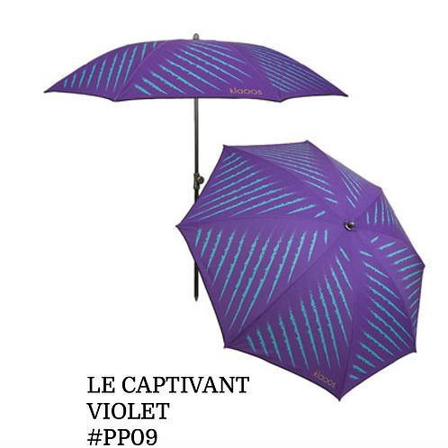 Parasol Captivant violet eco-responsable