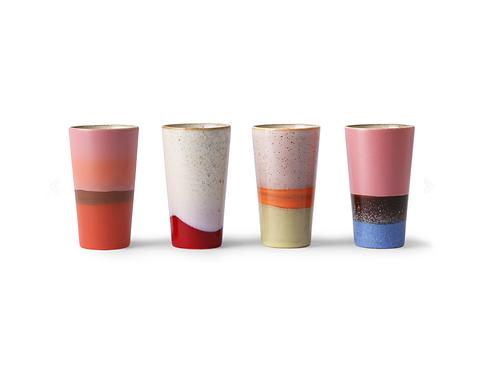 Mugs assortis, 70's ceramic