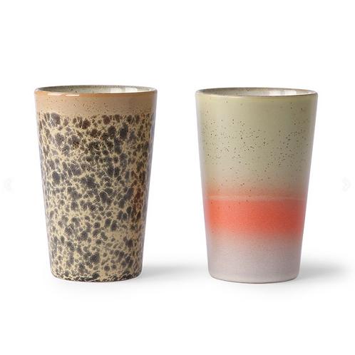 Mugs assortis  70's ceramic