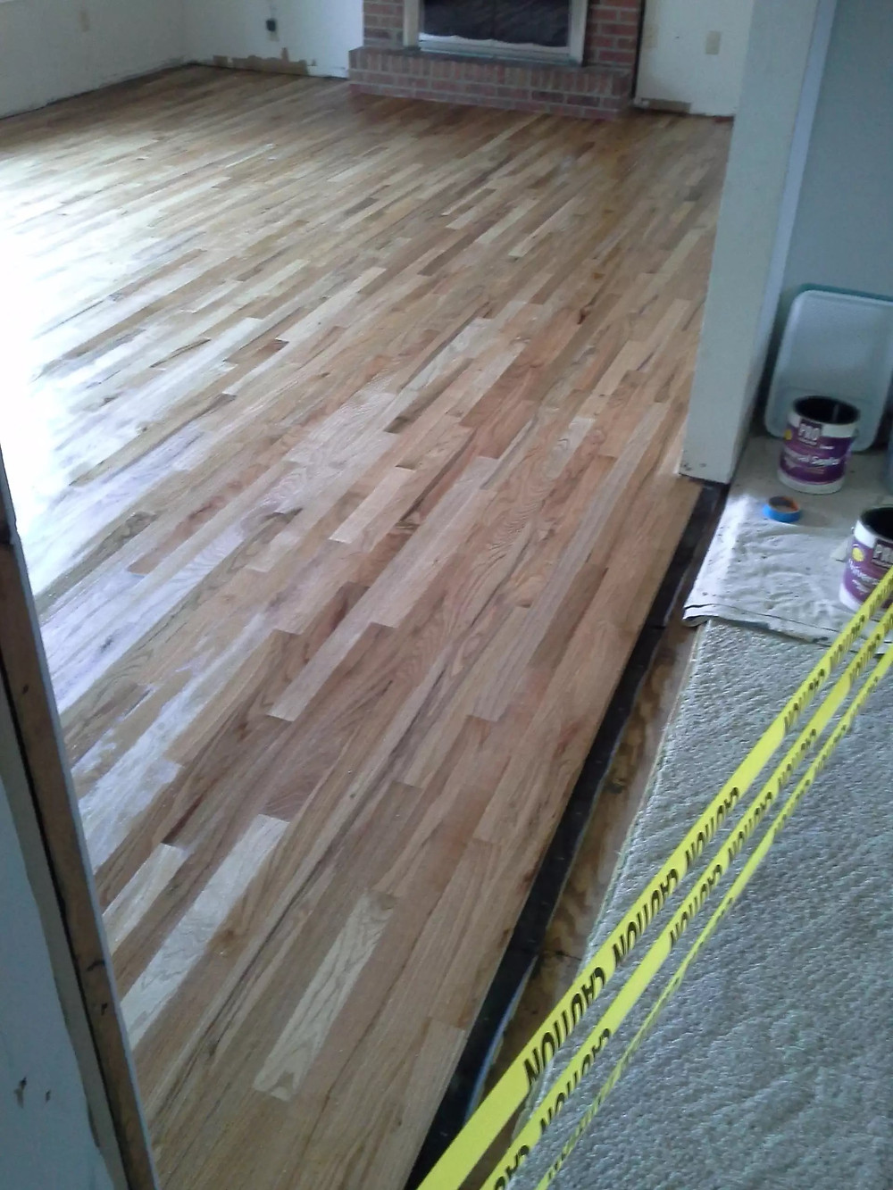 My oak floors with 1st coat of Universal Sealer applied
