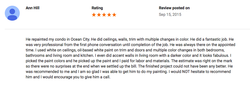 Google Review (Ocean City,MD)