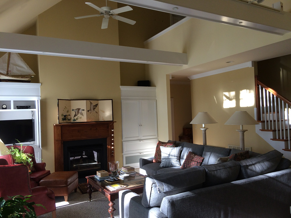 Painting a room with an open floor plan in Salisbury, MD.