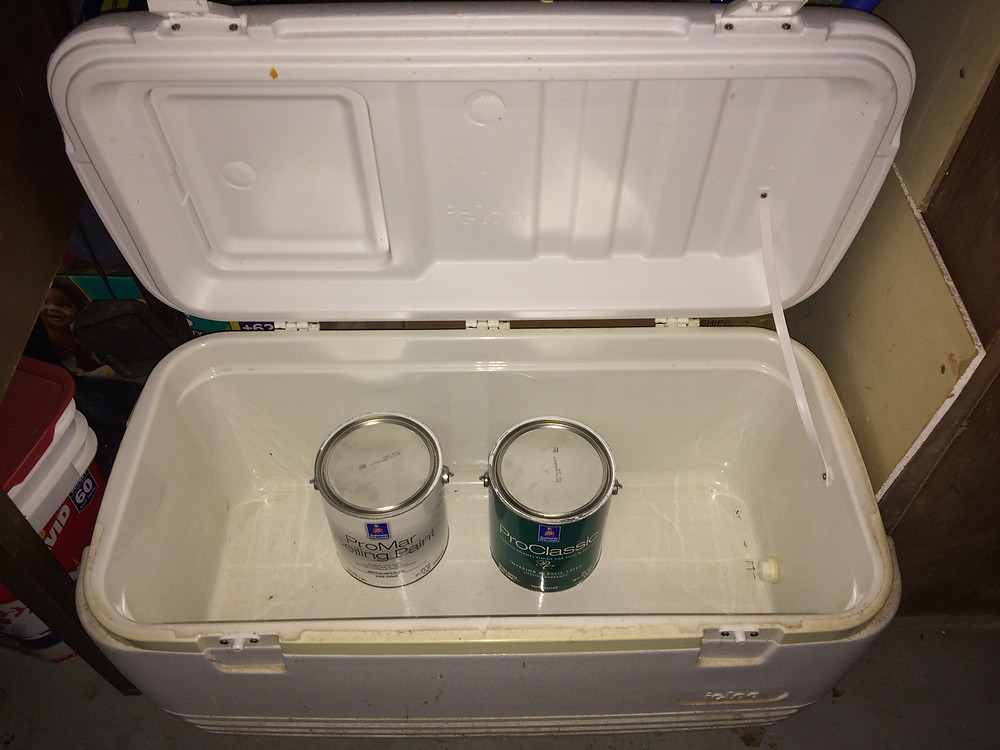 Store your paint in a cooler.