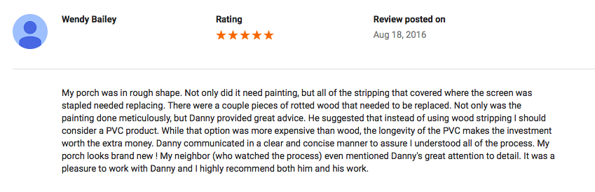 Google Review (Salisbury, MD)