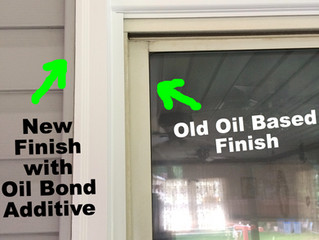Painting over oil based paint with Oil Bond Additive.