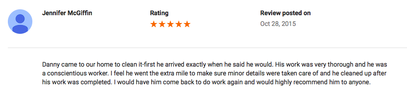 Google Review (Hebron, MD)