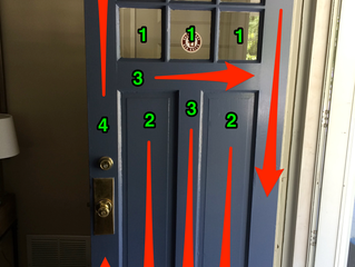 Useful tips for painting a Front Door.