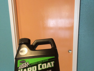 Add this to your latex paint when painting cabinets, doors and other high traffic areas.