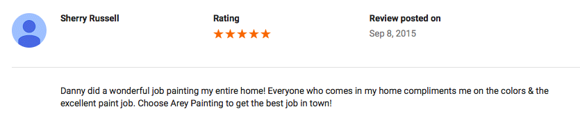 Google Review (Fruitland, MD)
