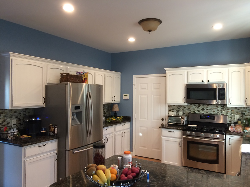 A calming blue for the kitchen in Salisbury, MD