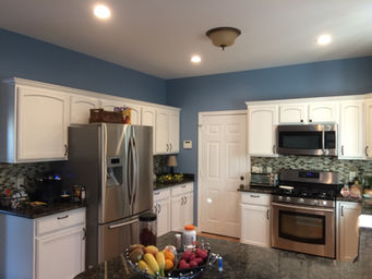 A Calming Blue For The Kitchen In Salisbury Md