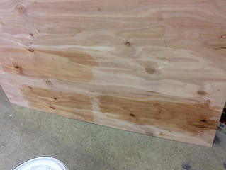 Matching a clear wood finish in Eden, MD.