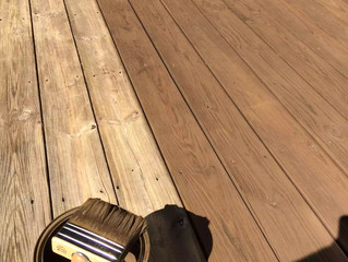 What steps to take before applying my deck finish.