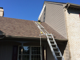 Exterior Painting:  Working on roofs safely.  Salisbury, MD
