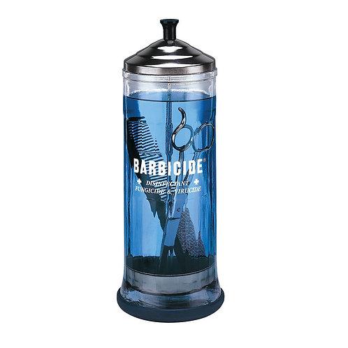 Large Barbicide Glass Jar