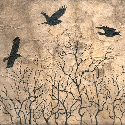 Three Trees, detail