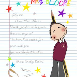 ... looking cute in their school uniform!