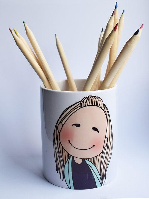 Personalised Character pencil pot