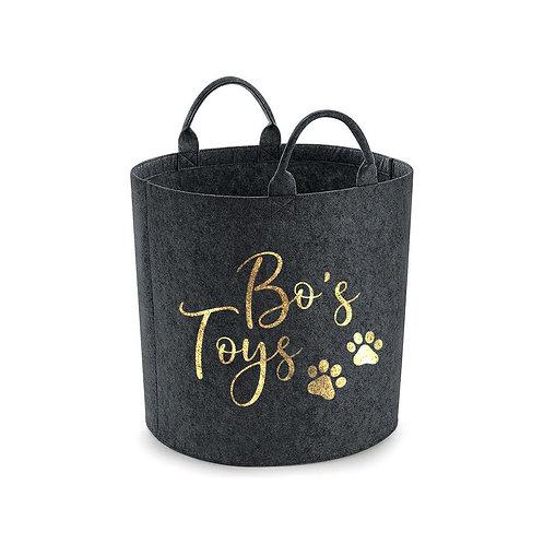 Personalised dog/cat toy storage