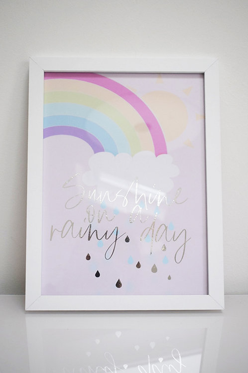 Sunshine on a rainy day foil art