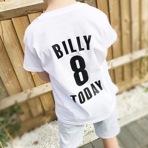 Football style birthday t-shirt