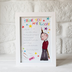 A hand drawn character of your little person in your life