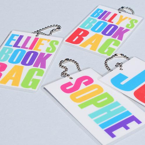 Book bag tags