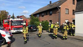 Saunabrand sorgt für einen langen Feuerwehreinsatz