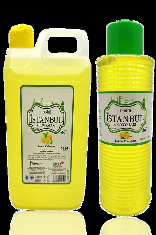 2'li Set (1 Litre Limon Kolonyası + 400ml Limon Kolonyası)