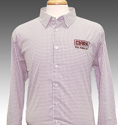 Men's Burgundy Button Down Dress Shirt
